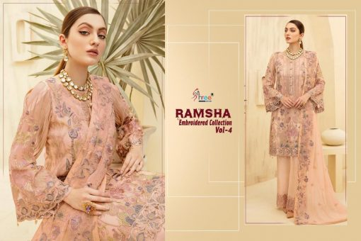 Shree Fabs Ramsha Embroidered Collection Vol 4 Salwar Suit Wholesale Catalog 6 Pcs 7 510x340 - Shree Fabs Ramsha Embroidered Collection Vol 4 Salwar Suit Wholesale Catalog 6 Pcs