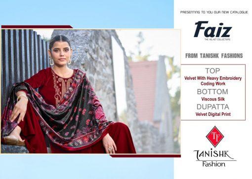 Tanishk Faiz Velvet Salwar Suit Wholesale Catalog 5 Pcs 11 510x363 - Tanishk Faiz Velvet Salwar Suit Wholesale Catalog 5 Pcs