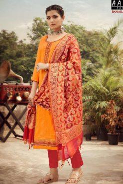 Z Black Banarasi Girl Salwar Suit Wholesale Catalog 6 Pcs