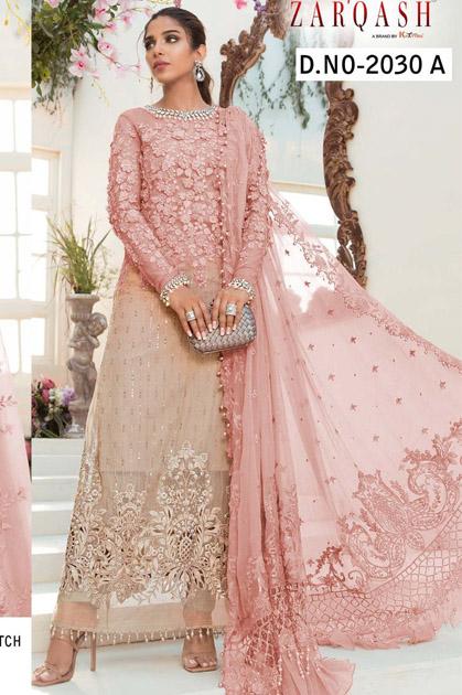Zarqash Mariya B Mbroidered DN 2030 by Khayyira Salwar Suit Wholesale Catalog 5 Pcs
