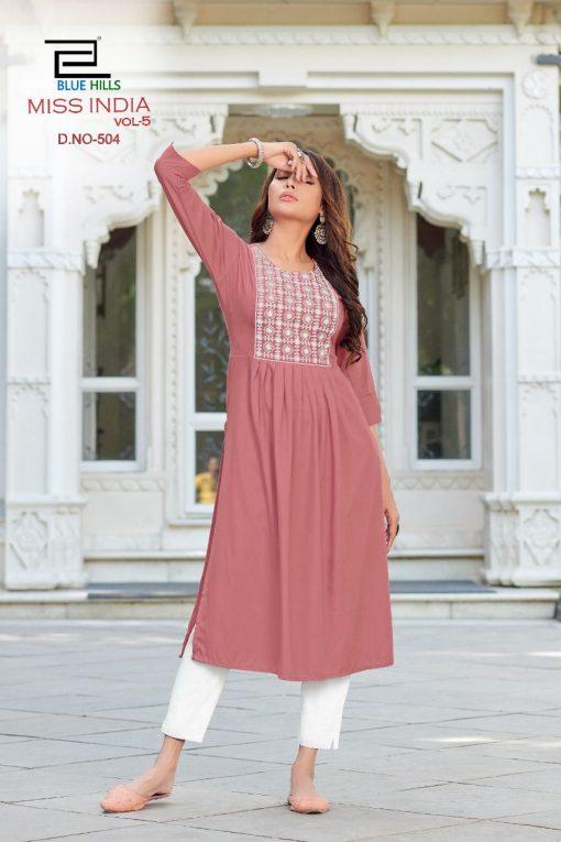 Blue Hills Miss India Vol 5 Kurti Wholesale Catalog 8 Pcs 3 510x765 - Blue Hills Miss India Vol 5 Kurti Wholesale Catalog 8 Pcs