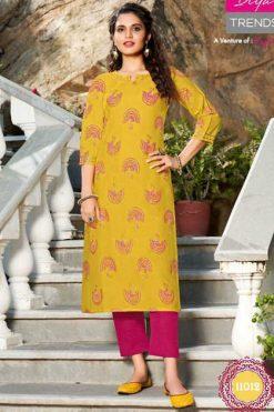 Diya Trends Gardencity Vol 11 by Kajal Style Kurti Wholesale Catalog 17 Pcs