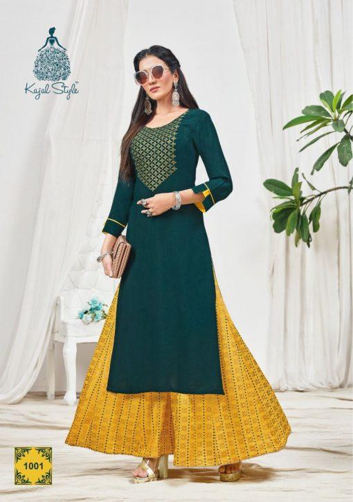 Kajal Style Fashion Bloom Vol 1 Kurti with Palazzo Wholesale Catalog 8 Pcs 1 510x725 - Kajal Style Fashion Bloom Vol 1 Kurti with Palazzo Wholesale Catalog 8 Pcs
