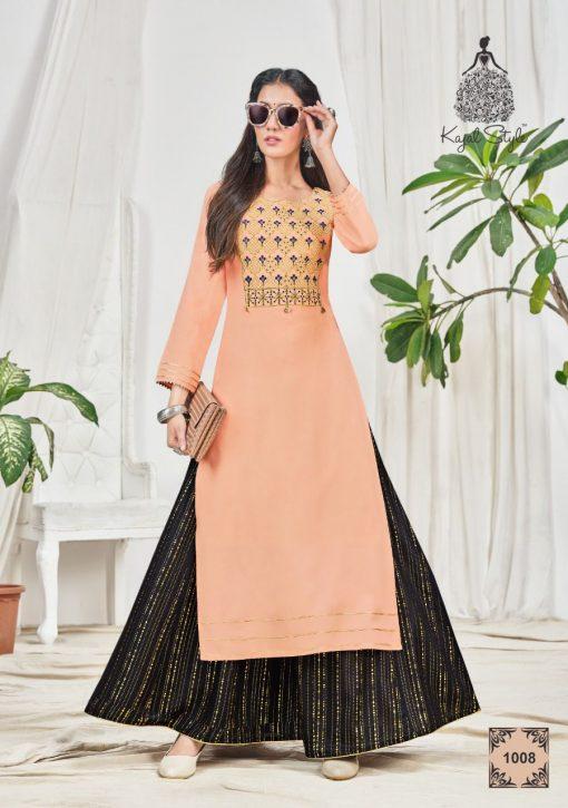 Kajal Style Fashion Bloom Vol 1 Kurti with Palazzo Wholesale Catalog 8 Pcs 11 510x725 - Kajal Style Fashion Bloom Vol 1 Kurti with Palazzo Wholesale Catalog 8 Pcs