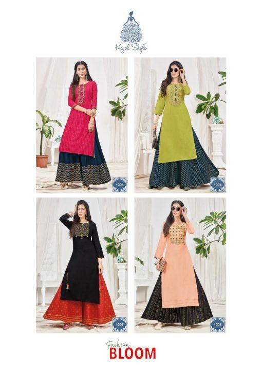 Kajal Style Fashion Bloom Vol 1 Kurti with Palazzo Wholesale Catalog 8 Pcs 14 510x725 - Kajal Style Fashion Bloom Vol 1 Kurti with Palazzo Wholesale Catalog 8 Pcs