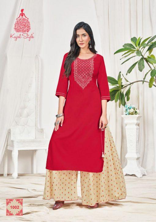 Kajal Style Fashion Bloom Vol 1 Kurti with Palazzo Wholesale Catalog 8 Pcs 3 510x725 - Kajal Style Fashion Bloom Vol 1 Kurti with Palazzo Wholesale Catalog 8 Pcs