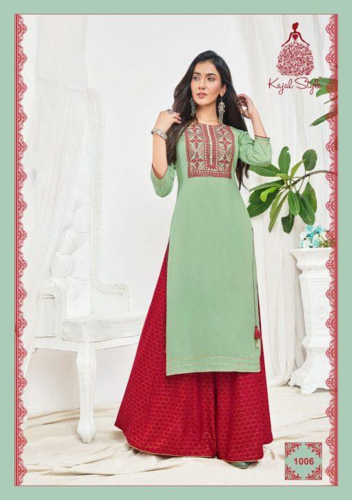Kajal Style Fashion Bloom Vol 1 Kurti with Palazzo Wholesale Catalog 8 Pcs 8 510x725 - Kajal Style Fashion Bloom Vol 1 Kurti with Palazzo Wholesale Catalog 8 Pcs