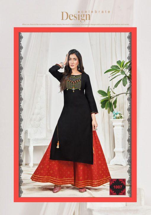 Kajal Style Fashion Bloom Vol 1 Kurti with Palazzo Wholesale Catalog 8 Pcs 9 510x725 - Kajal Style Fashion Bloom Vol 1 Kurti with Palazzo Wholesale Catalog 8 Pcs