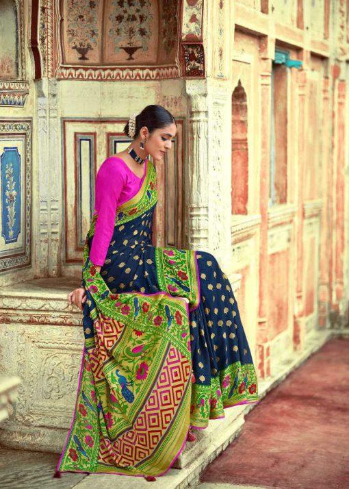 Kashvi Paithani Silk by Lt Fabrics Saree Sari Wholesale Catalog 10 Pcs 22 510x714 - Kashvi Paithani Silk by Lt Fabrics Saree Sari Wholesale Catalog 10 Pcs