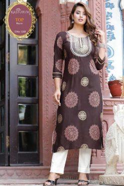 Kasturam Vol 11 A by Kajal Style Kurti Wholesale Catalog 3 Pcs