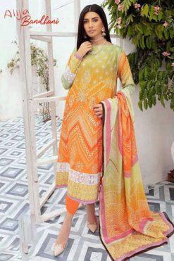 Keval Fab Alija Bandhani Special Vol 2 Salwar Suit Wholesale Catalog 6 Pcs