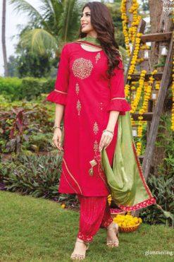 Kiana Glimmering Kurti with Dupatta Bottom Wholesale Catalog 7 Pcs