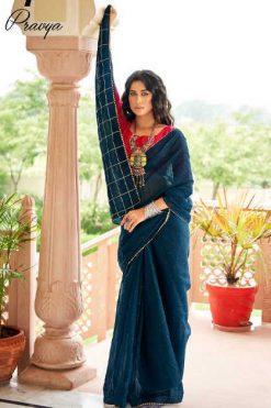 Lt Fabrics Pravya Saree Sari Wholesale Catalog 10 Pcs