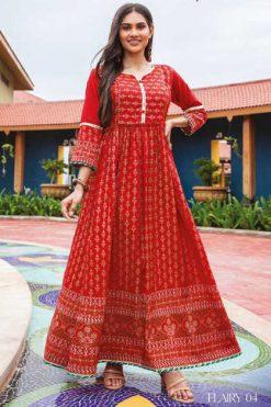 Mayree India Flairy Kurti Wholesale Catalog 6 Pcs
