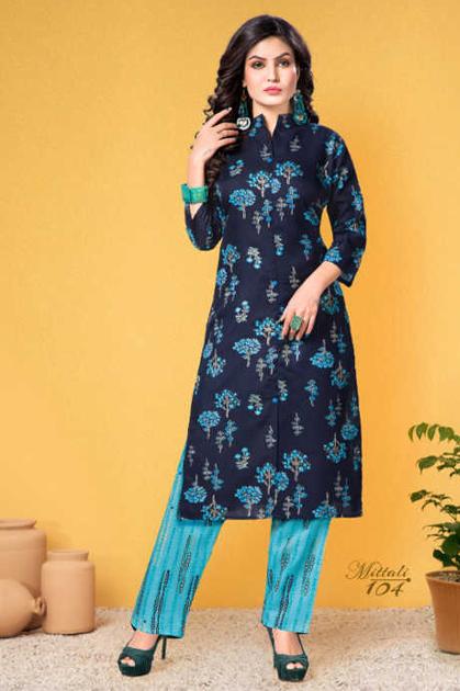 Mittali Kurti with Pant Wholesale Catalog 8 Pcs