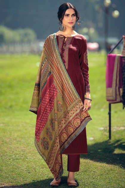 Mumtaz Arts Jamawar Pashmina Salwar Suit Wholesale Catalog 8 Pcs