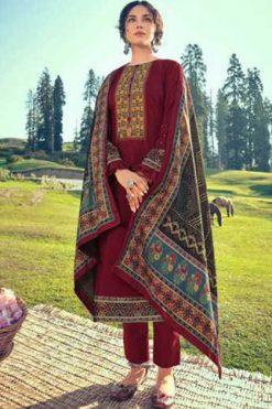 Mumtaz Arts Shahtoosh Pashmina Salwar Suit Wholesale Catalog 7 Pcs