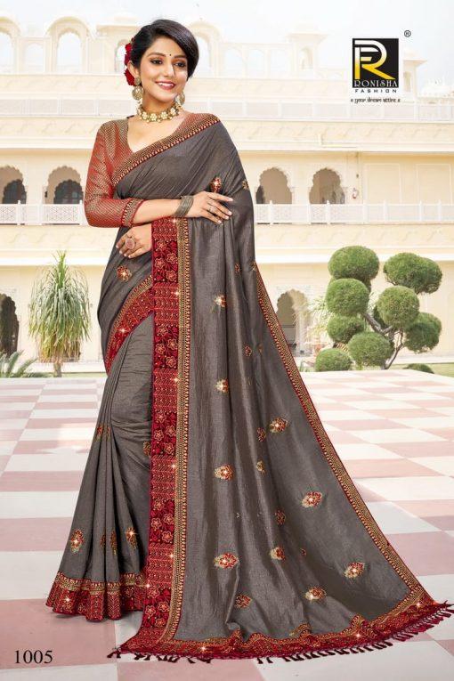 Ranjna Malhar Saree Sari Wholesale Catalog 8 Pcs 4 510x765 - Ranjna Malhar Saree Sari Wholesale Catalog 8 Pcs