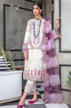 Shree Fabs Adan Libaas Schiffli Collection Vol 4 NX Salwar Suit Wholesale Catalog 3 Pcs