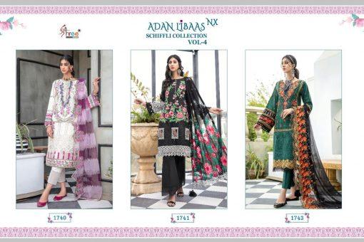 Shree Fabs Adan Libaas Schiffli Collection Vol 4 NX Salwar Suit Wholesale Catalog 3 Pcs 8 510x340 - Shree Fabs Adan Libaas Schiffli Collection Vol 4 NX Salwar Suit Wholesale Catalog 3 Pcs
