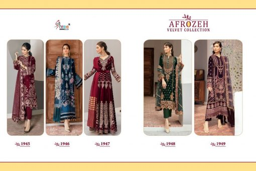 Shree Fabs Afrozeh Velvet Pashmina Collection Salwar Suit Wholesale Catalog 5 Pcs 11 510x340 - Shree Fabs Afrozeh Velvet Pashmina Collection Salwar Suit Wholesale Catalog 5 Pcs