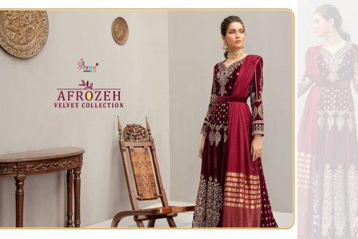 Shree Fabs Afrozeh Velvet Pashmina Collection Salwar Suit Wholesale Catalog 5 Pcs 3 510x340 - Shree Fabs Afrozeh Velvet Pashmina Collection Salwar Suit Wholesale Catalog 5 Pcs