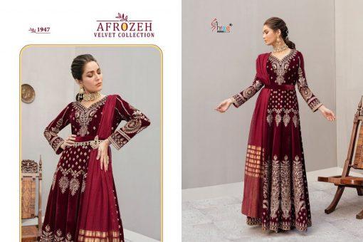 Shree Fabs Afrozeh Velvet Pashmina Collection Salwar Suit Wholesale Catalog 5 Pcs 4 510x340 - Shree Fabs Afrozeh Velvet Pashmina Collection Salwar Suit Wholesale Catalog 5 Pcs