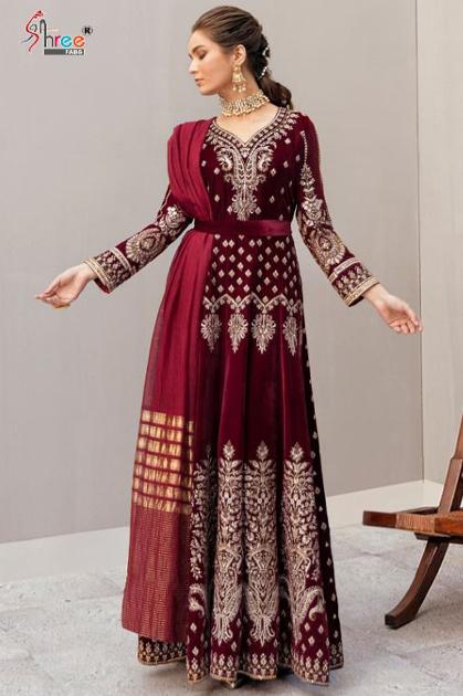 Shree Fabs Afrozeh Velvet Pashmina Collection Salwar Suit Wholesale Catalog 5 Pcs
