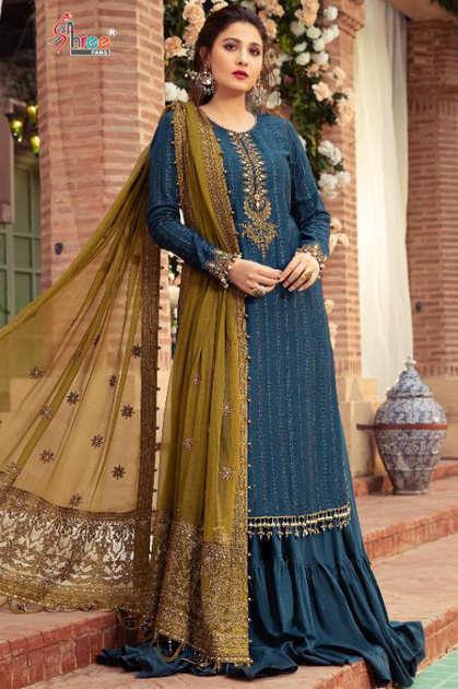 Shree Fabs Sateen Mariya B Vol 2 Salwar Suit Wholesale Catalog 4 Pcs