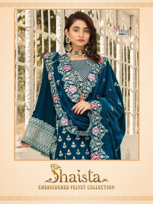 Shree Fabs Shaista Embroidered Velvet Collection Salwar Suit Wholesale Catalog 5 Pcs 1 510x680 - Shree Fabs Shaista Embroidered Velvet Collection Salwar Suit Wholesale Catalog 5 Pcs