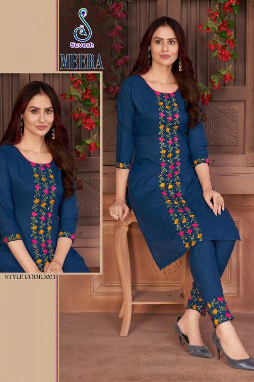 Suvesh Meera Kurti with Pant Wholesale Catalog 5 Pcs 2 510x765 - Suvesh Meera Kurti with Pant Wholesale Catalog 5 Pcs
