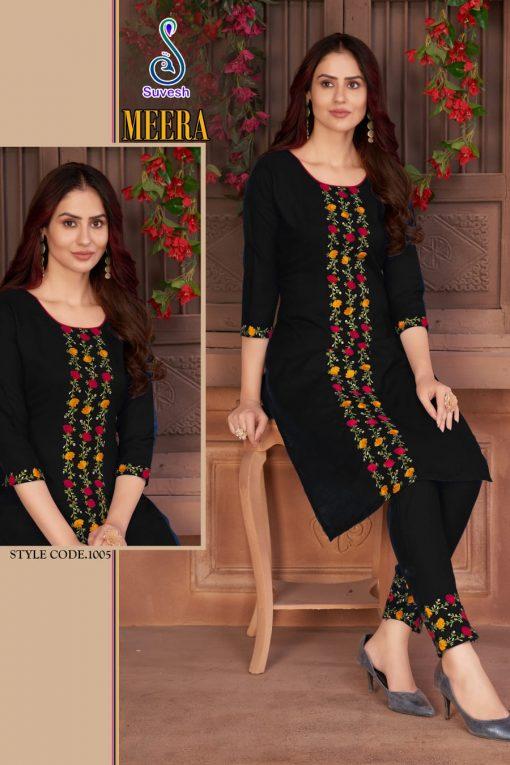 Suvesh Meera Kurti with Pant Wholesale Catalog 5 Pcs 3 510x765 - Suvesh Meera Kurti with Pant Wholesale Catalog 5 Pcs