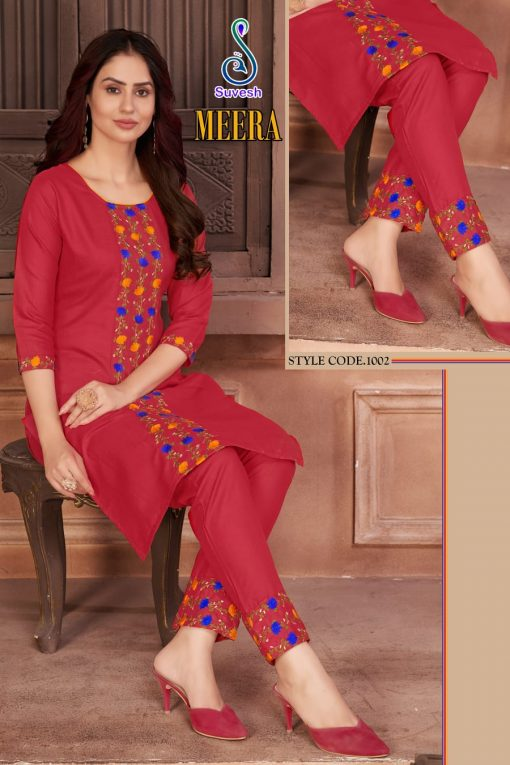 Suvesh Meera Kurti with Pant Wholesale Catalog 5 Pcs 5 510x765 - Suvesh Meera Kurti with Pant Wholesale Catalog 5 Pcs