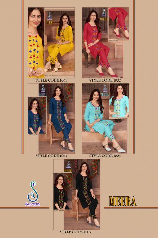 Suvesh Meera Kurti with Pant Wholesale Catalog 5 Pcs 6 510x765 - Suvesh Meera Kurti with Pant Wholesale Catalog 5 Pcs