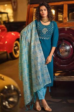 Vitara Saffair Kurti with Dupatta Bottom Wholesale Catalog 4 Pcs