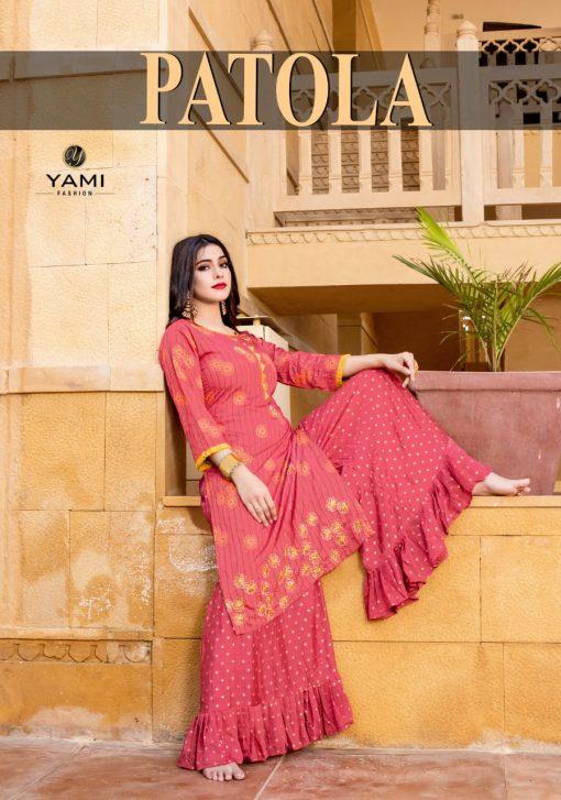 Yami Fashion Patola Kurti with Sharara Wholesale Catalog 6 Pcs 1 510x727 - Yami Fashion Patola Kurti with Sharara Wholesale Catalog 6 Pcs