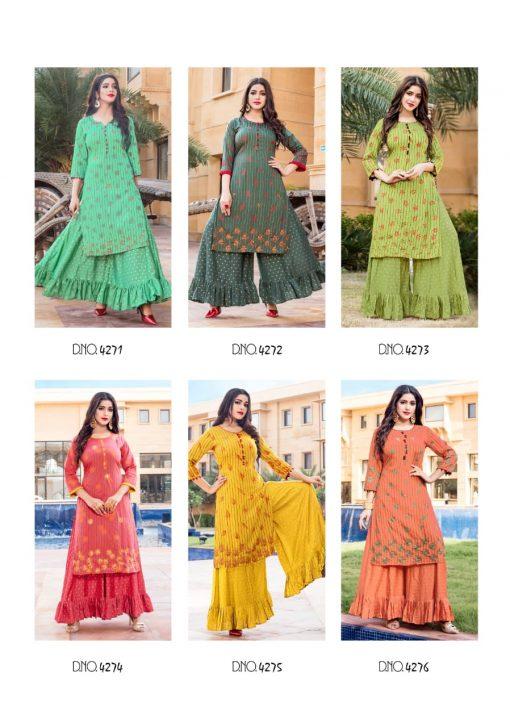 Yami Fashion Patola Kurti with Sharara Wholesale Catalog 6 Pcs 14 510x727 - Yami Fashion Patola Kurti with Sharara Wholesale Catalog 6 Pcs