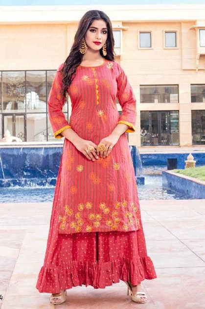 Yami Fashion Patola Kurti with Sharara Wholesale Catalog 6 Pcs